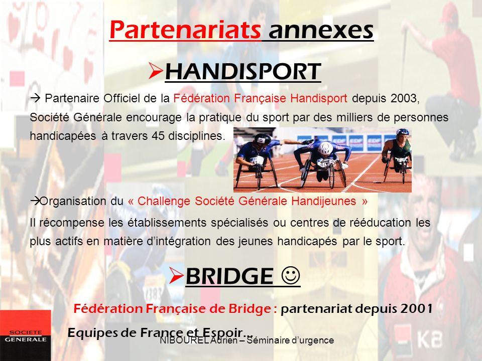 Partenariats annexes HANDISPORT BRIDGE  Equipes de France et Espoir…