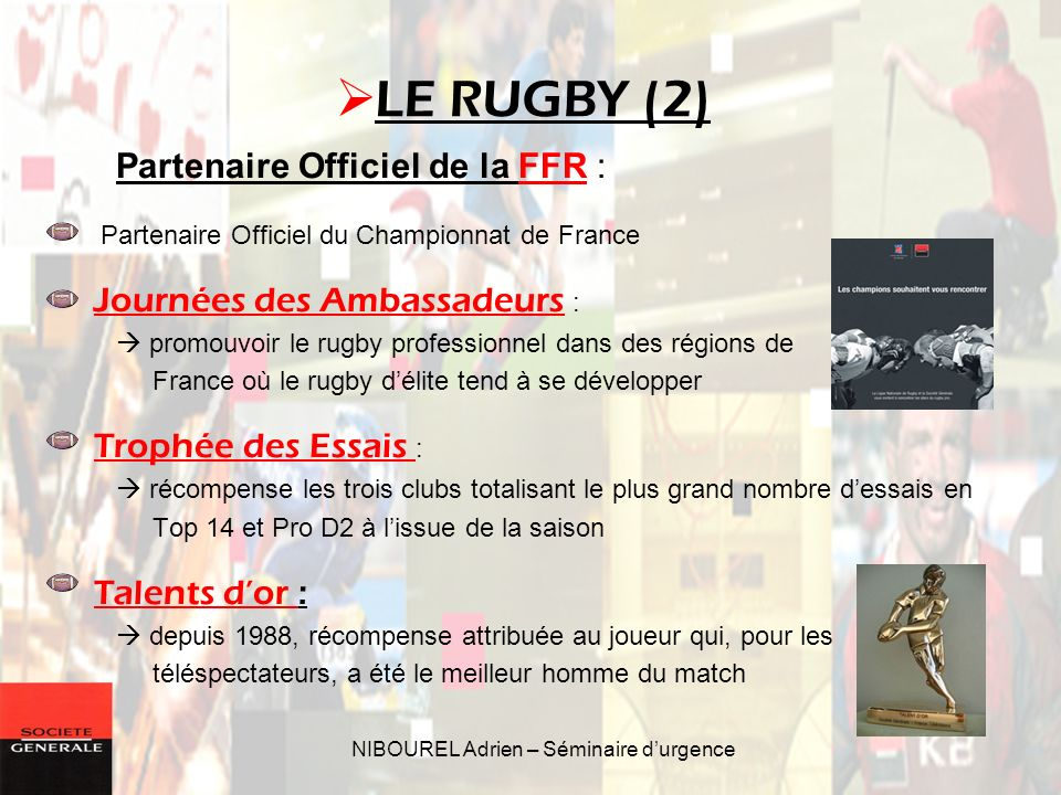 NIBOUREL Adrien – Séminaire d'urgence