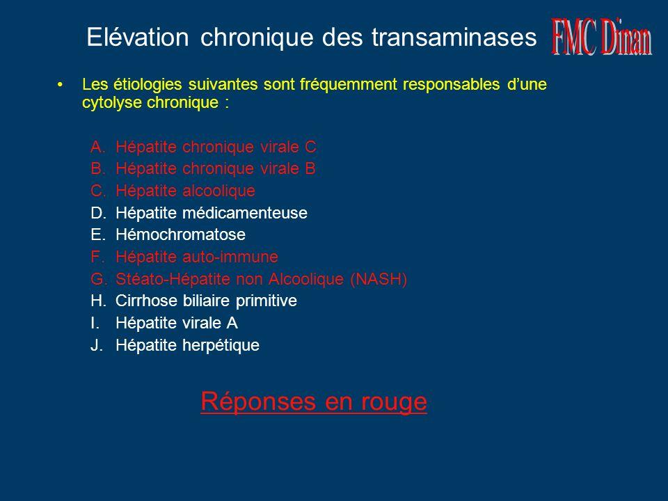 Elévation chronique des transaminases