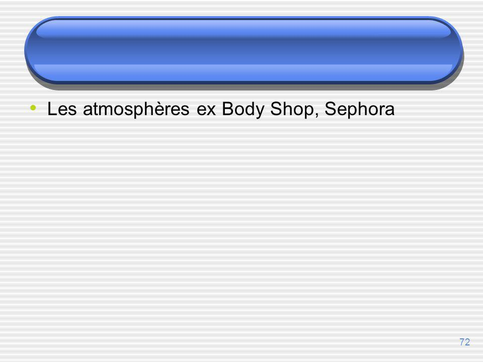 Les atmosphères ex Body Shop, Sephora