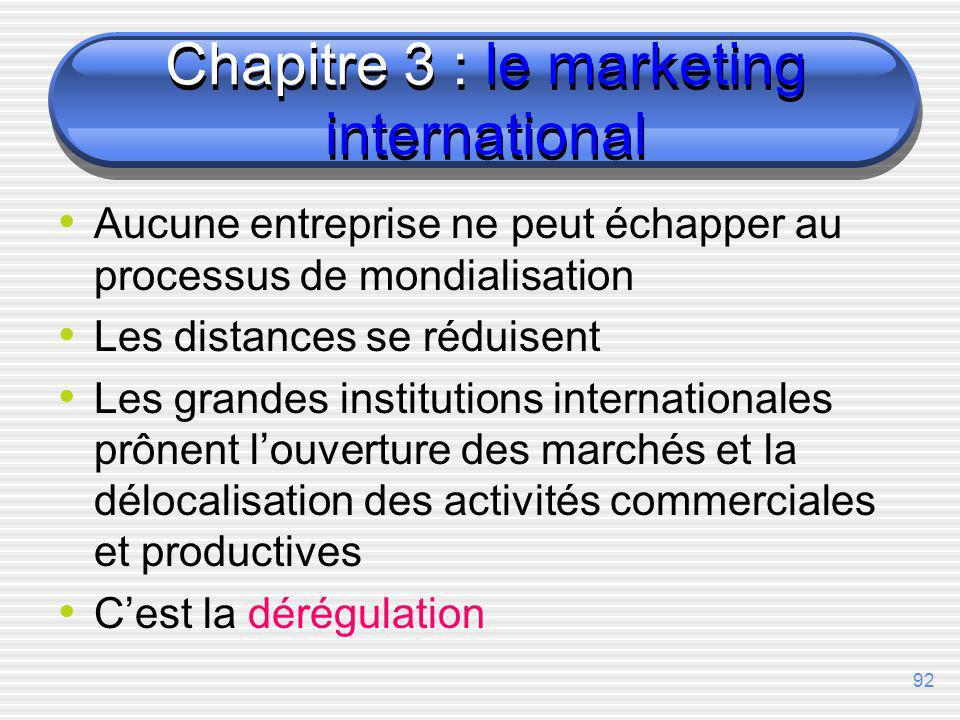 Chapitre 3 : le marketing international