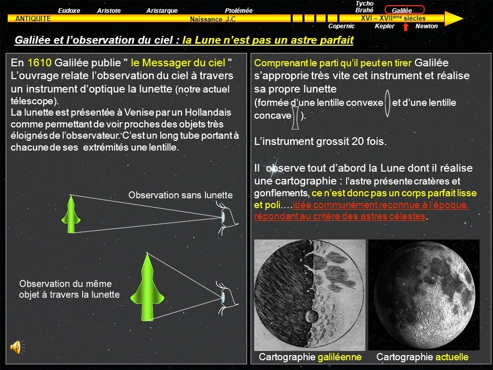 Galilée et l'observation du ciel : la Lune n'est pas un astre parfait
