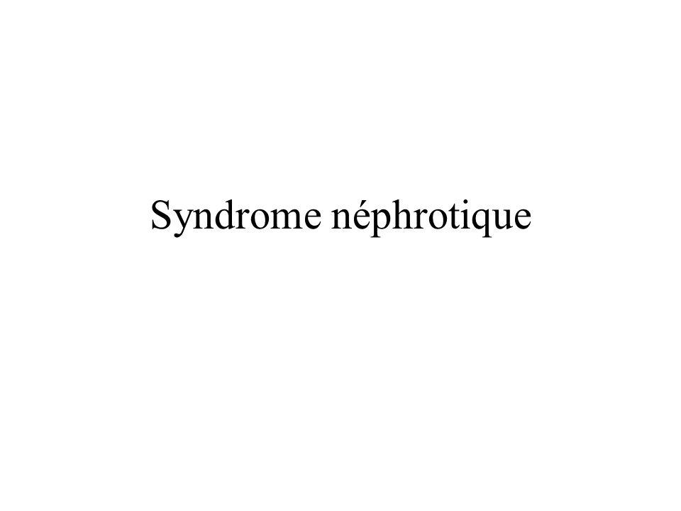 Syndrome néphrotique