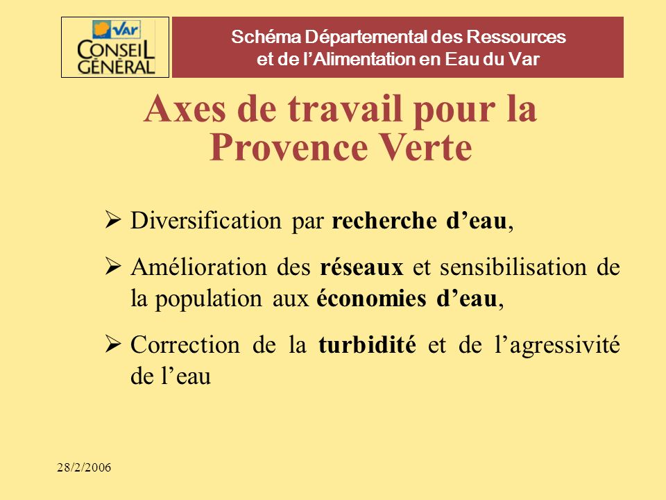 Axes de travail pour la Provence Verte