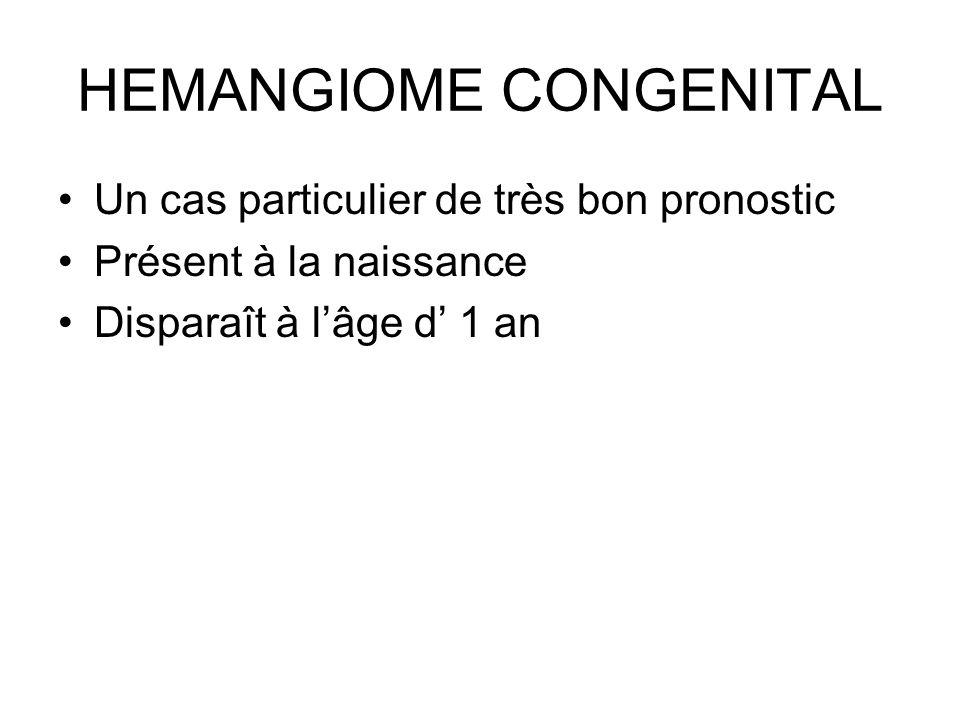 HEMANGIOME CONGENITAL