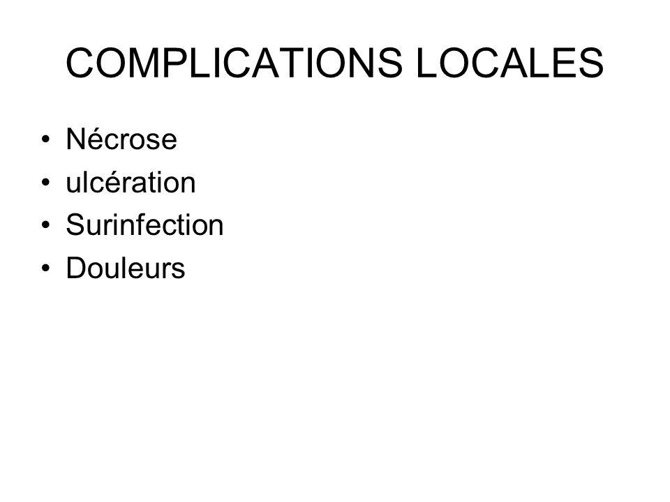 COMPLICATIONS LOCALES