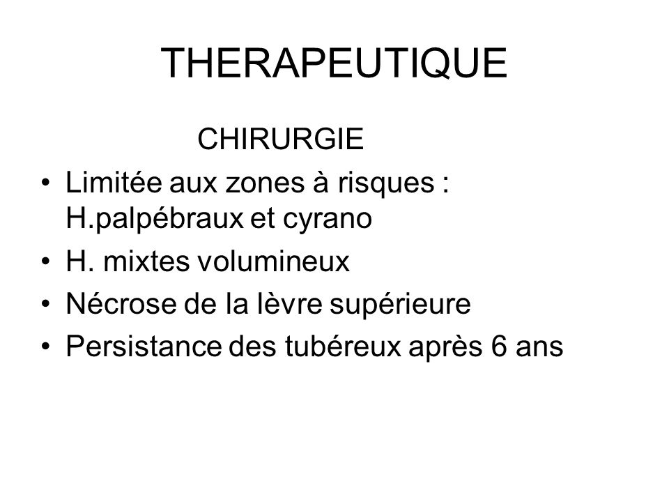 THERAPEUTIQUE CHIRURGIE