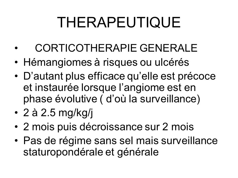 THERAPEUTIQUE CORTICOTHERAPIE GENERALE