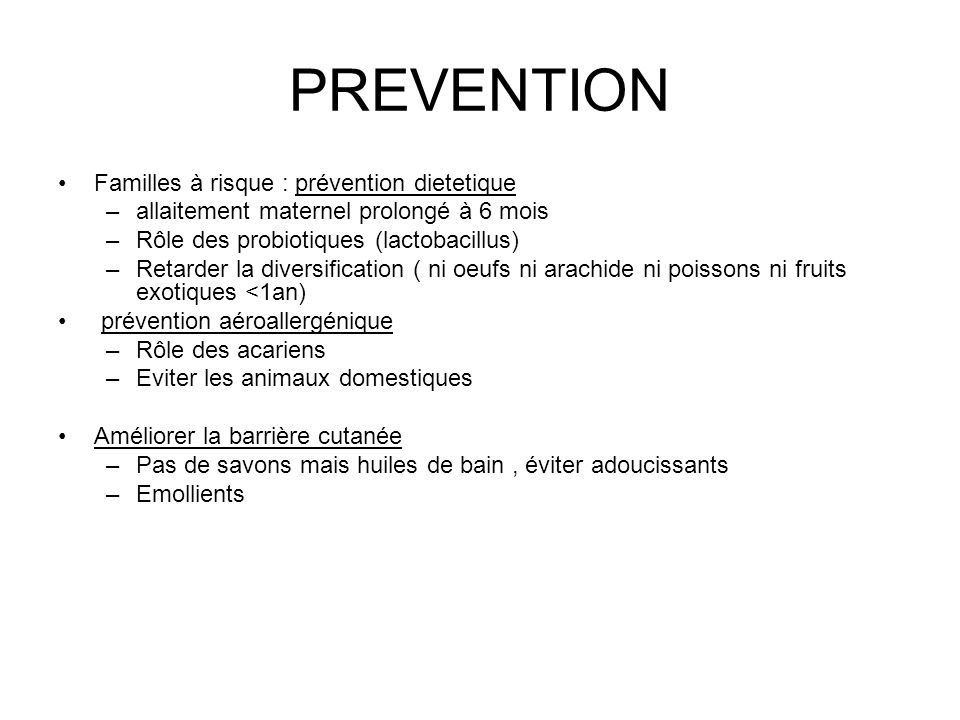 PREVENTION Familles à risque : prévention dietetique