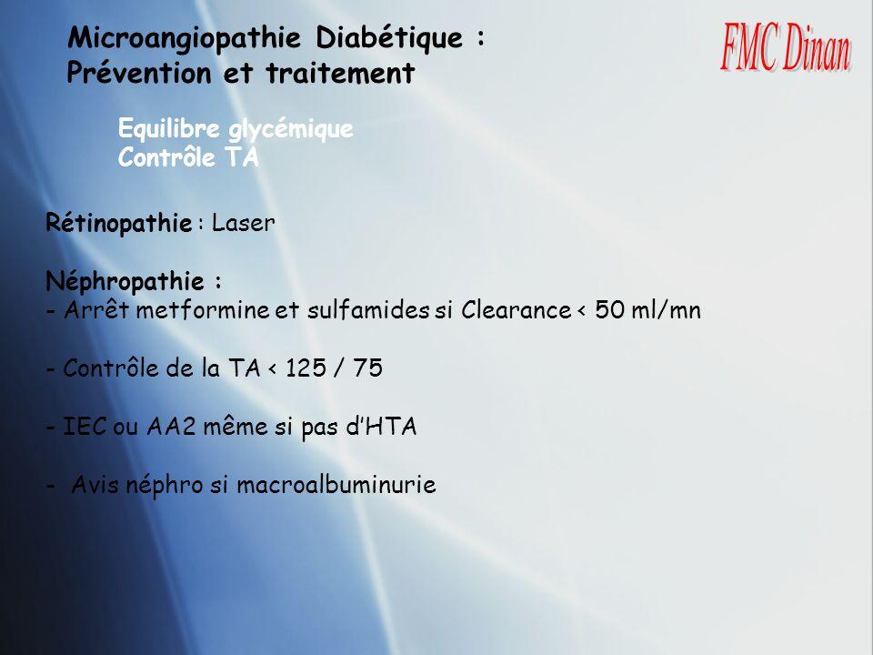 Microangiopathie Diabétique : Prévention et traitement FMC Dinan