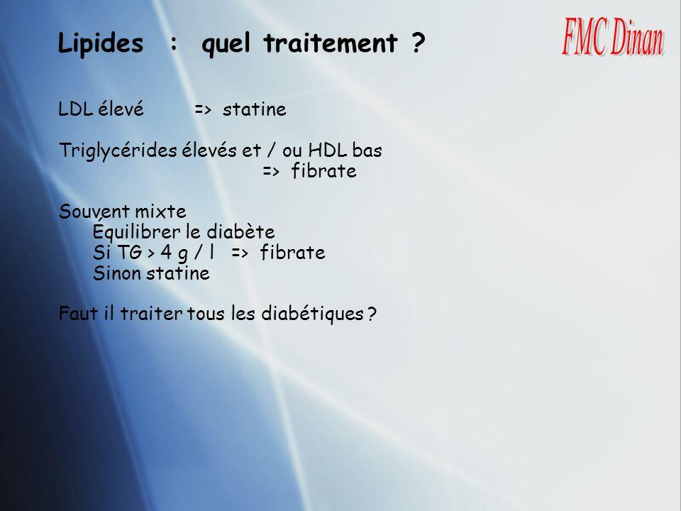 Lipides : quel traitement