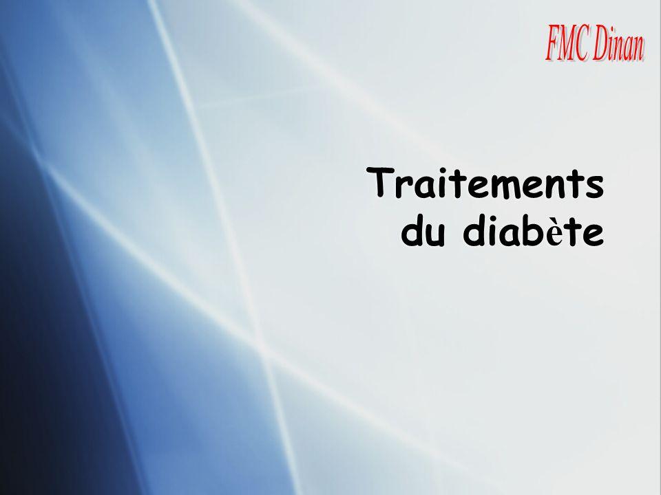 Traitements du diabète