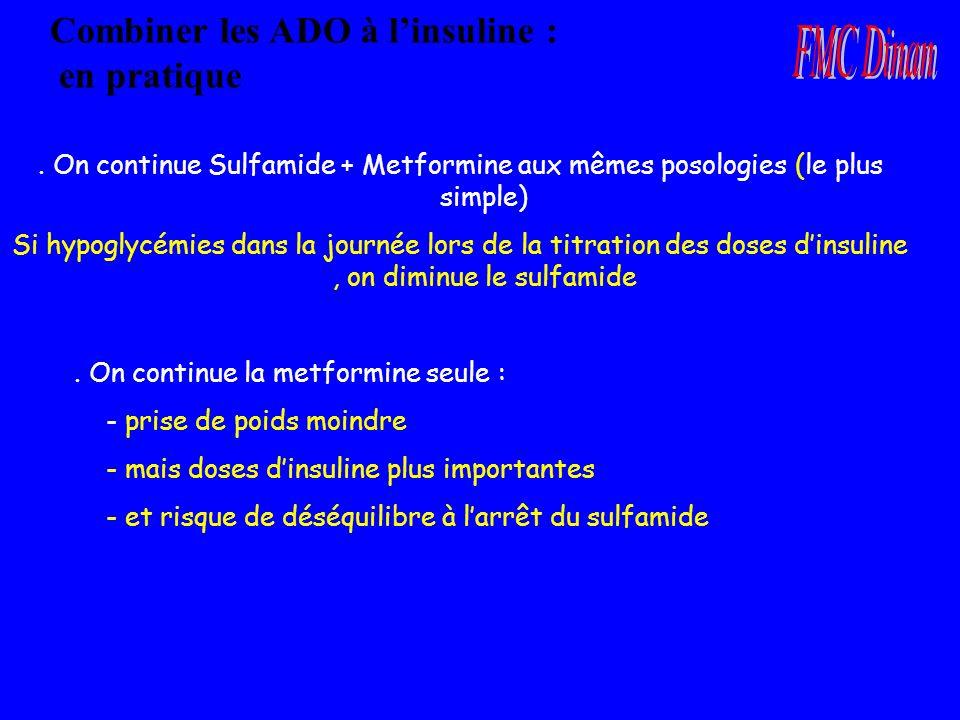 Combiner les ADO à l'insuline : en pratique