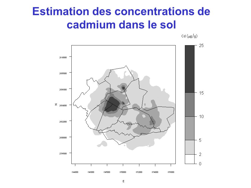 Estimation des concentrations de cadmium dans le sol