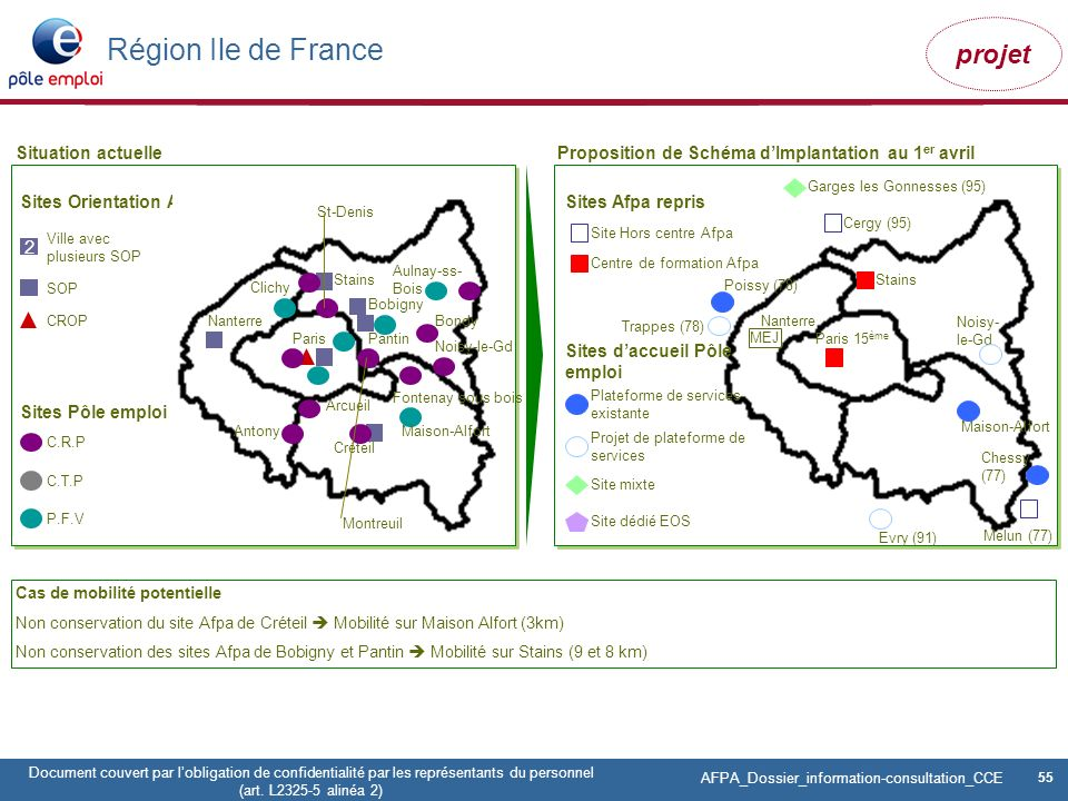 Région Ile de France 2 Situation actuelle