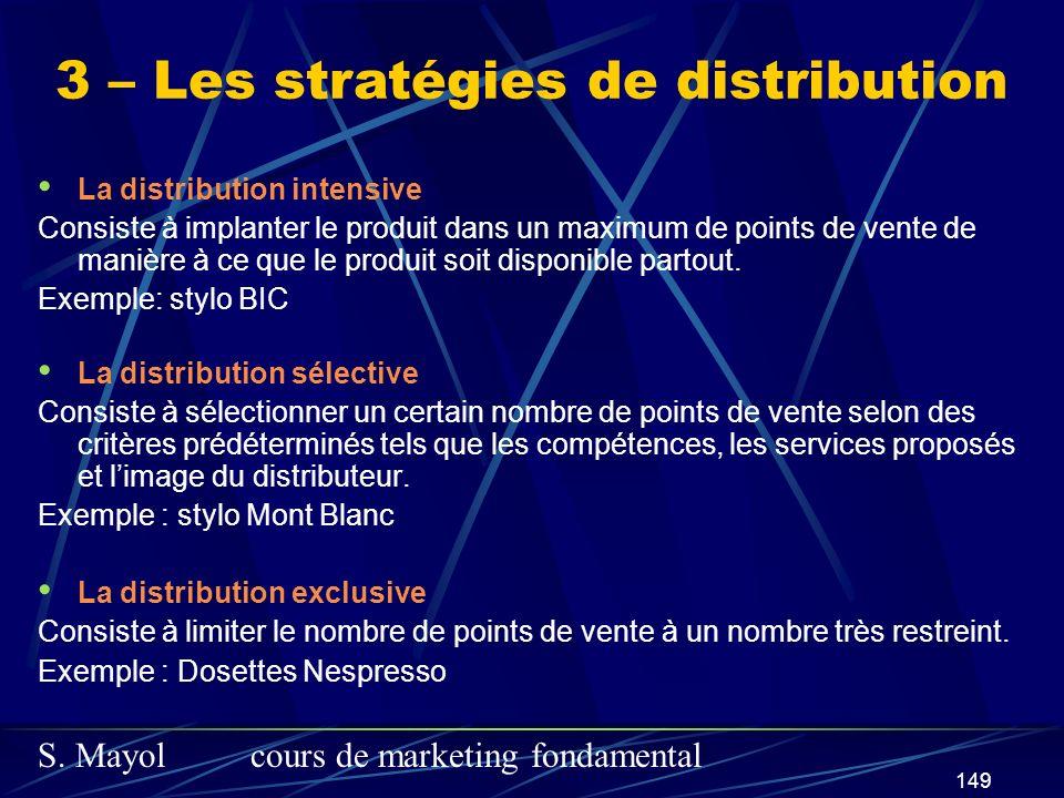 3 – Les stratégies de distribution