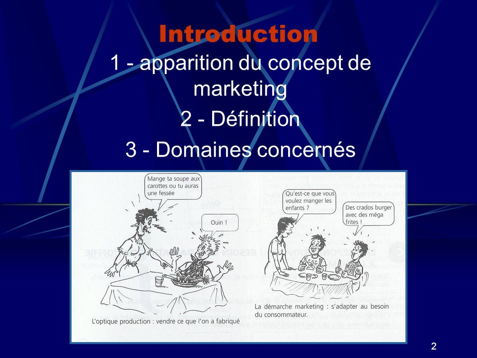 1 - apparition du concept de marketing
