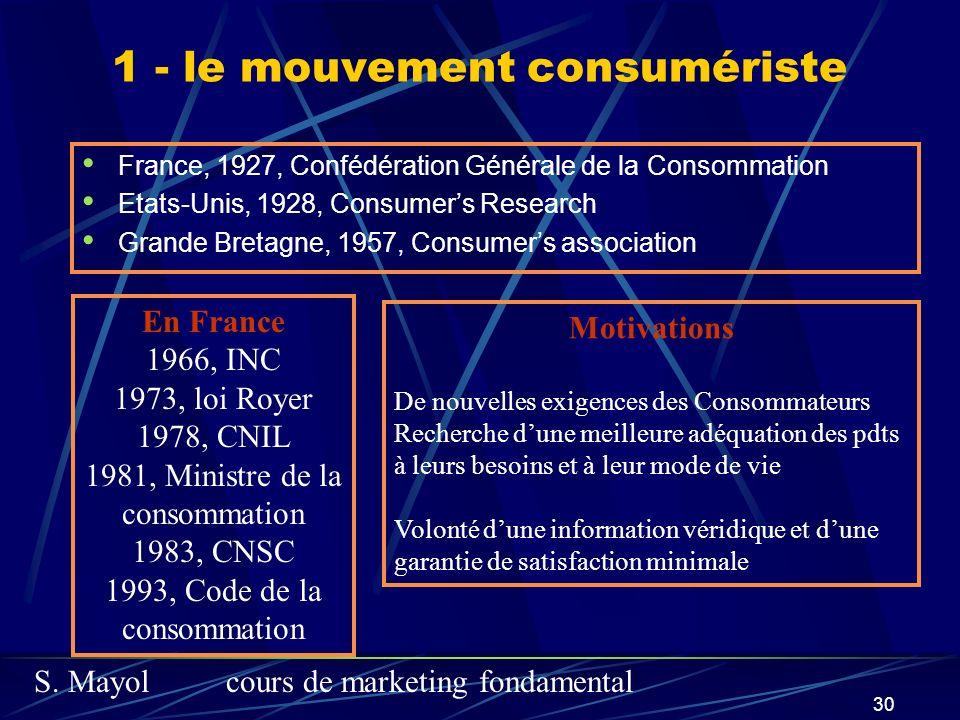 1 - le mouvement consumériste
