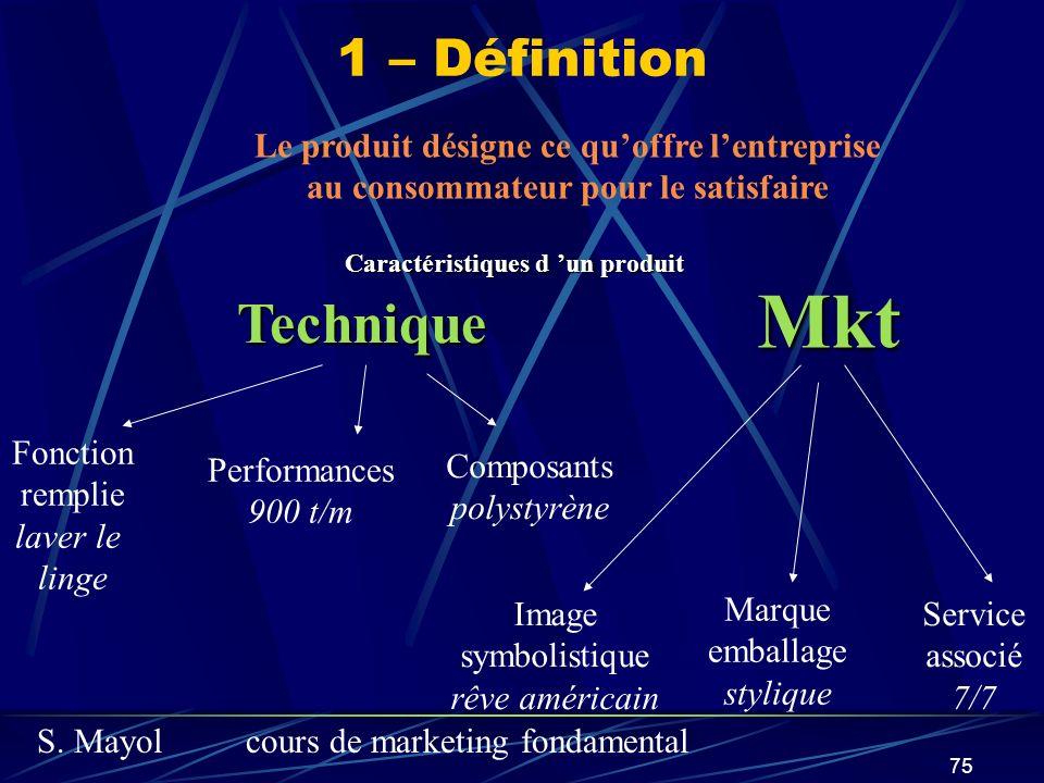 Mkt Technique 1 – Définition