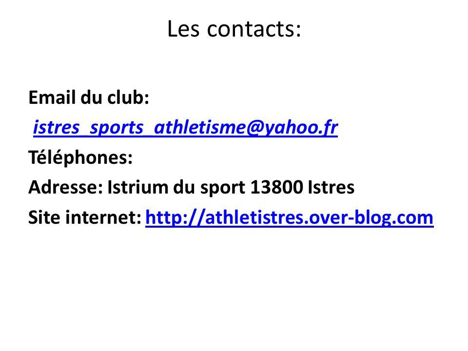 Les contacts: