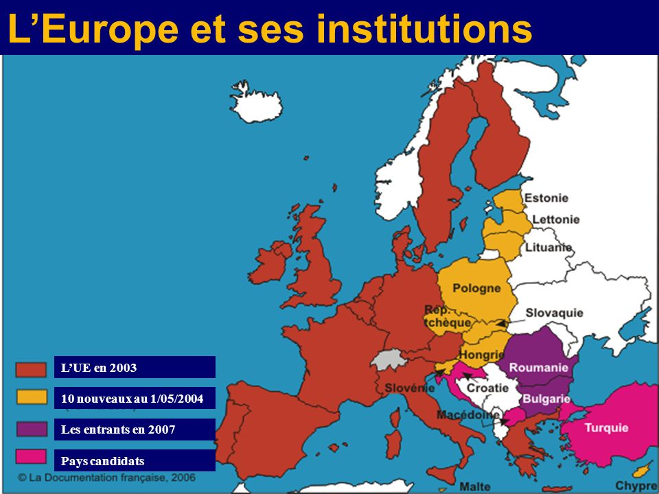 L'Europe et ses institutions