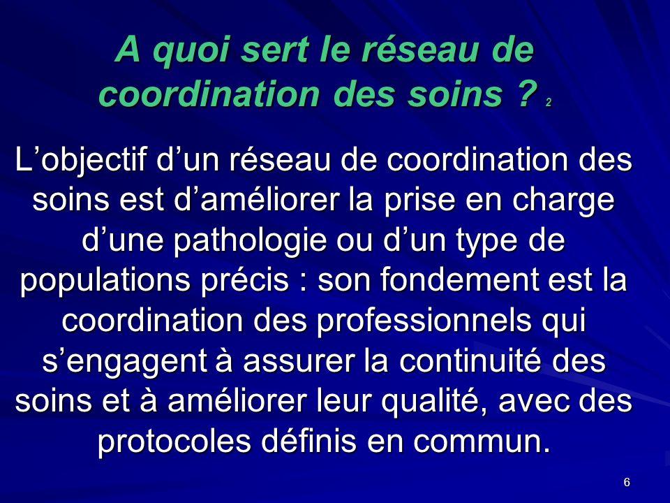A quoi sert le réseau de coordination des soins 2