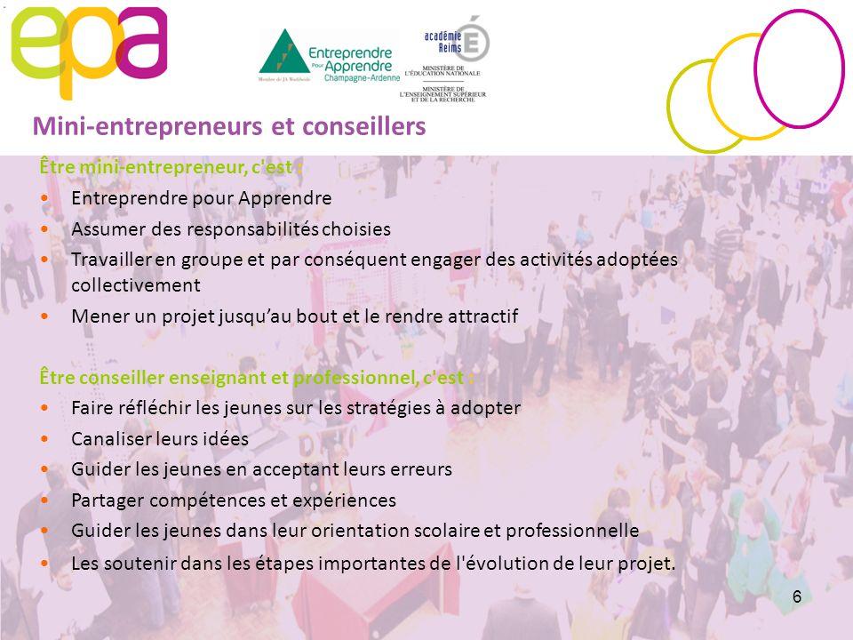 Mini-entrepreneurs et conseillers