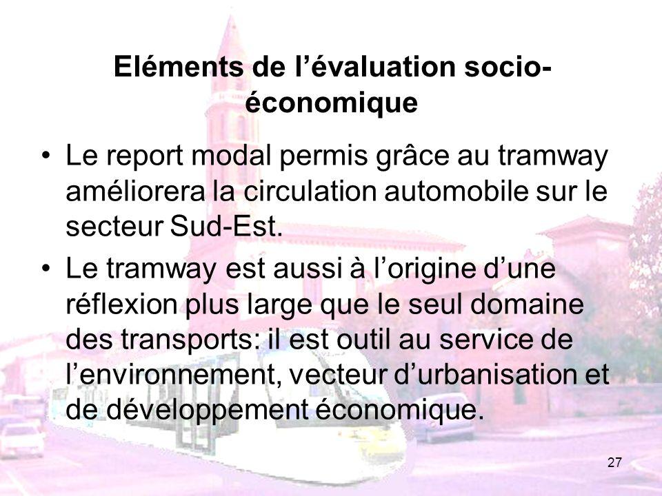 Eléments de l'évaluation socio-économique