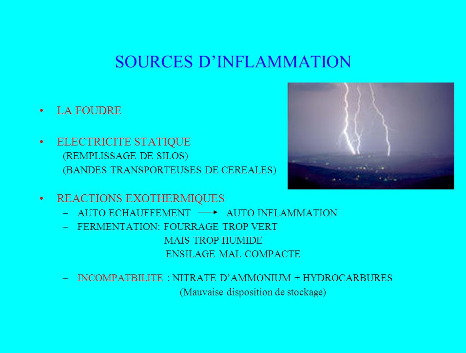 SOURCES D'INFLAMMATION