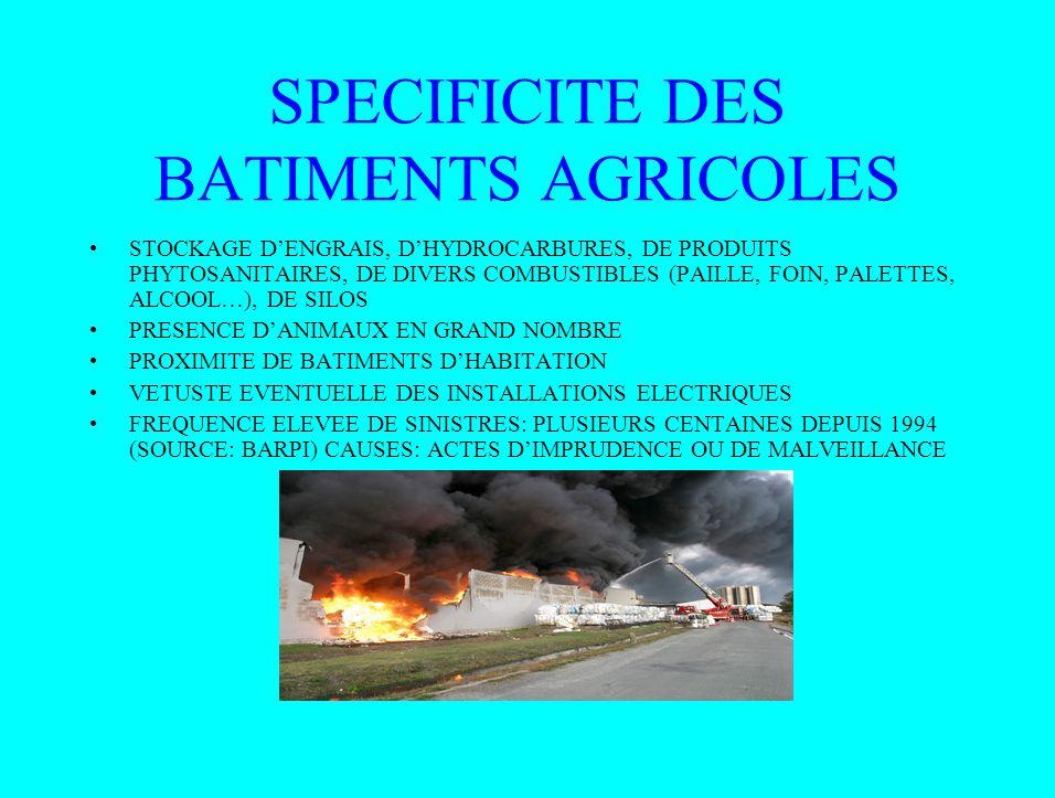 SPECIFICITE DES BATIMENTS AGRICOLES