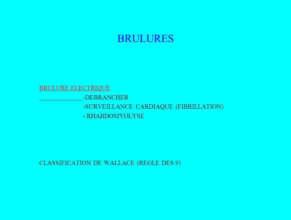 BRULURES BRULURE ELECTRIQUE -DEBRANCHER