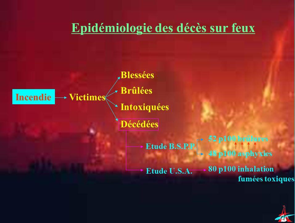 Epidémiologie des décès sur feux
