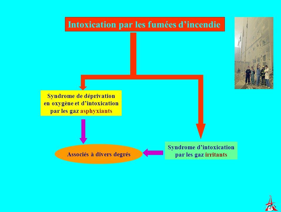 Intoxication par les fumées d'incendie