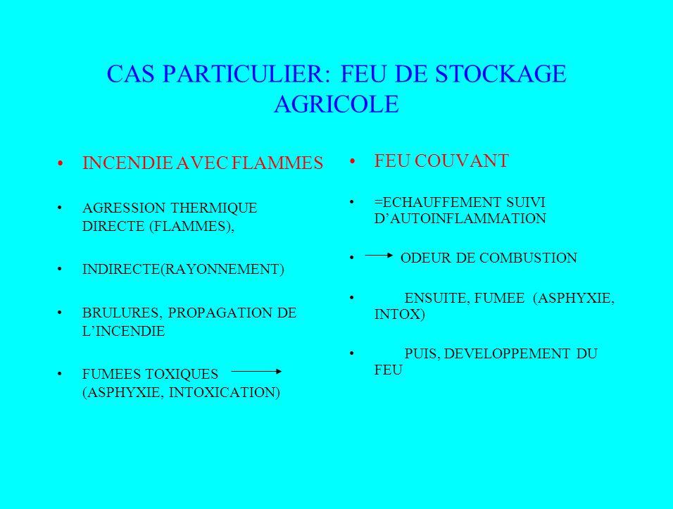 CAS PARTICULIER: FEU DE STOCKAGE AGRICOLE