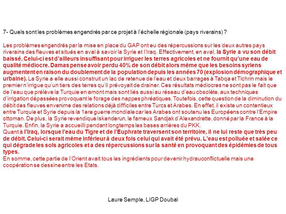 Laure Semple, LIGP Doubaï
