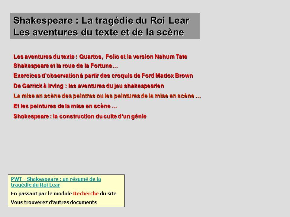 Shakespeare : La tragédie du Roi Lear