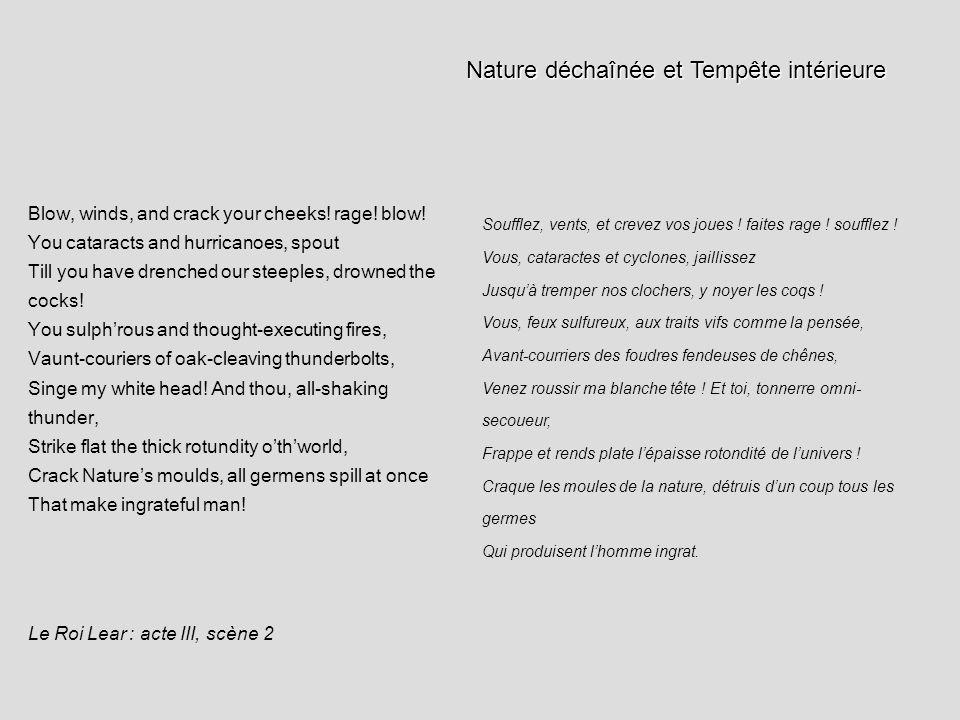 Nature déchaînée et Tempête intérieure