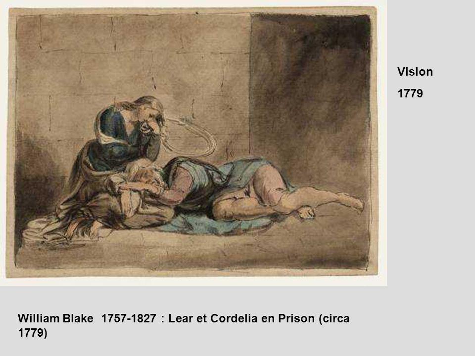 William Blake 1757-1827 : Lear et Cordelia en Prison (circa 1779)