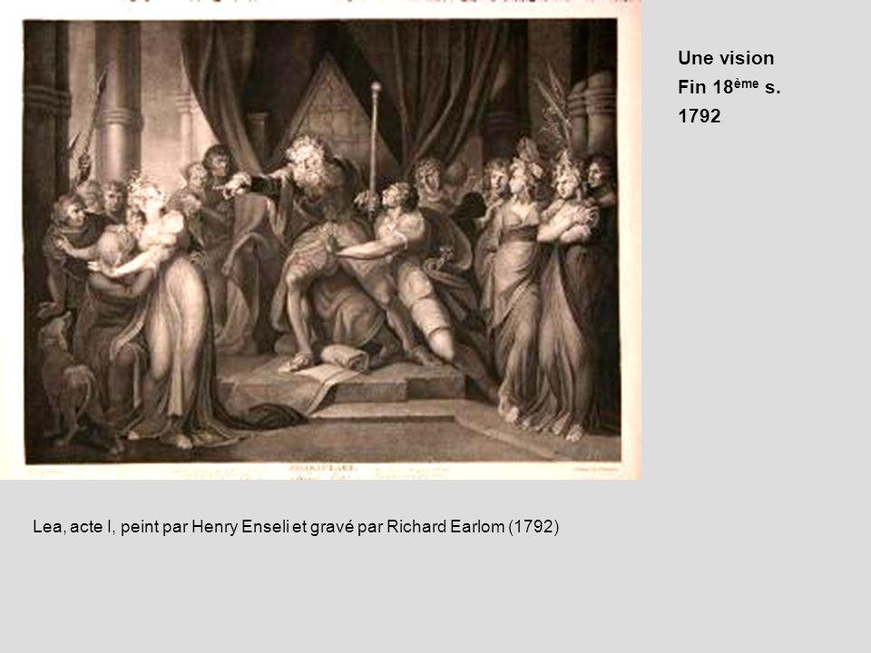 Une visionFin 18ème s. 1792.
