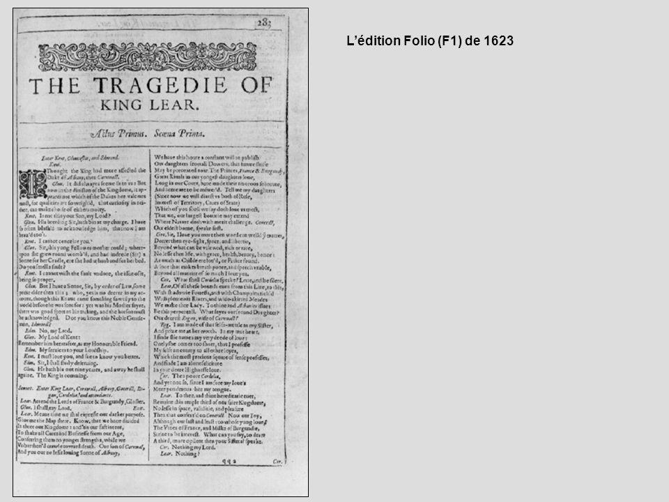 L'édition Folio (F1) de 1623