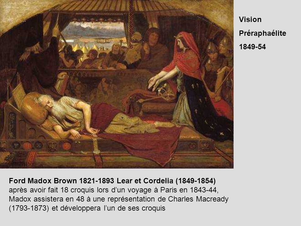 Ford Madox Brown 1821-1893 Lear et Cordelia (1849-1854)
