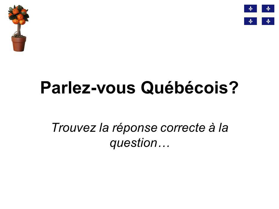 Parlez-vous Québécois