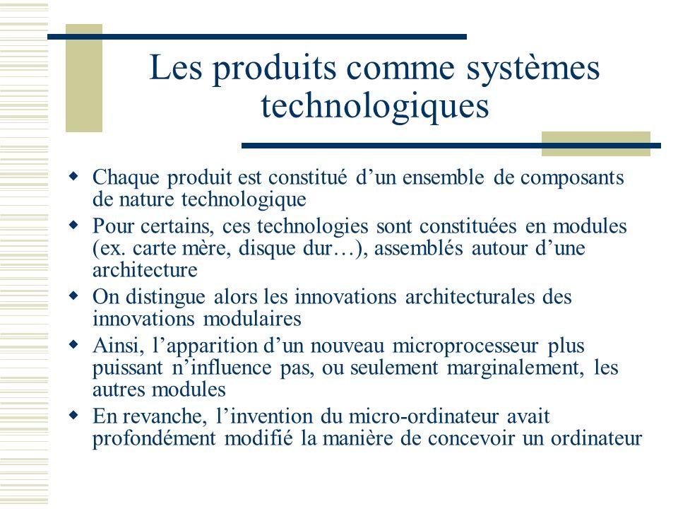 Les produits comme systèmes technologiques