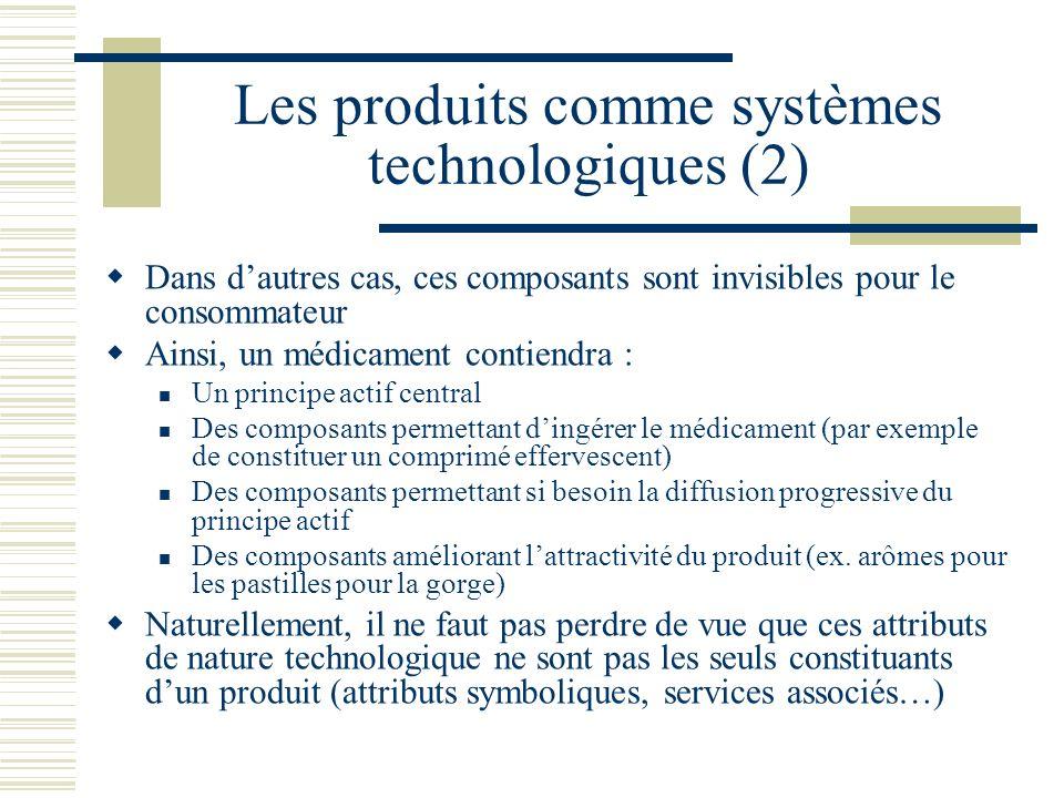 Les produits comme systèmes technologiques (2)