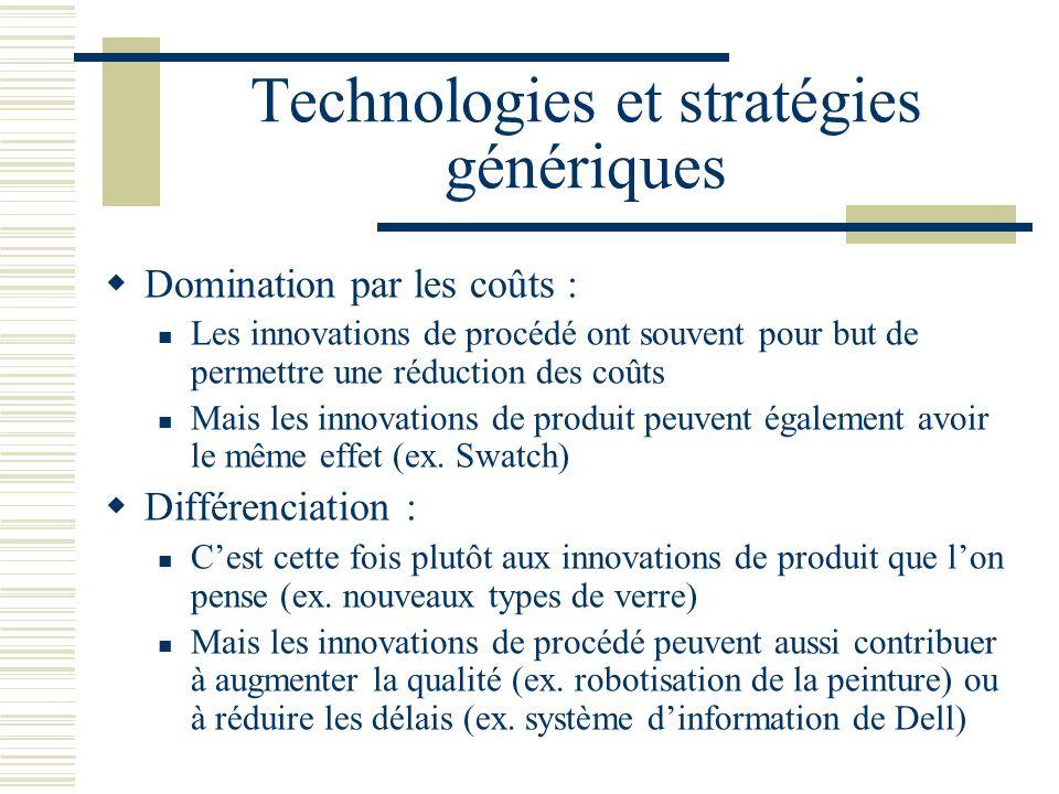 Technologies et stratégies génériques