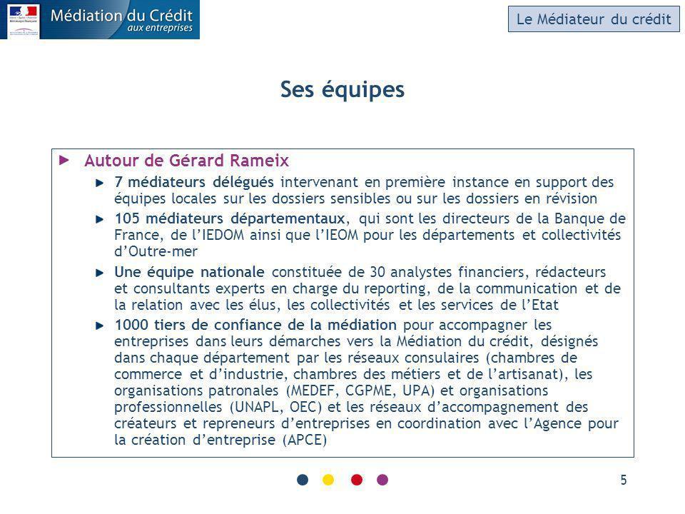 Ses équipes Autour de Gérard Rameix Le Médiateur du crédit