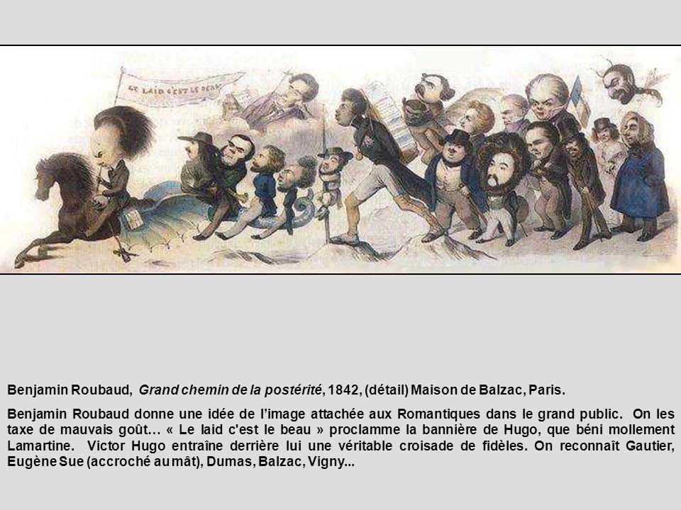 Benjamin Roubaud, Grand chemin de la postérité, 1842, (détail) Maison de Balzac, Paris.