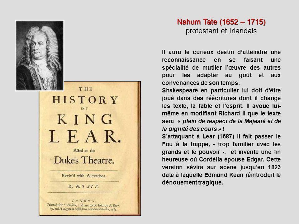 Nahum Tate (1652 – 1715) protestant et Irlandais