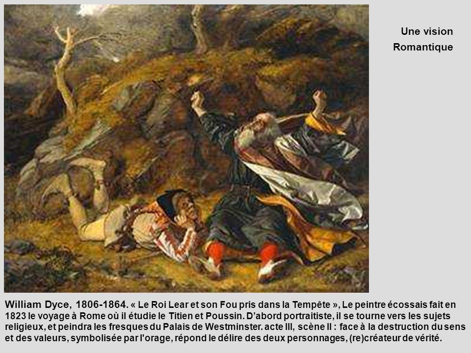 Une vision Romantique. « Le Roi Lear et son Fou pris dans la Tempête », Works locationDeutsch: Edinburgh, London, Rom.