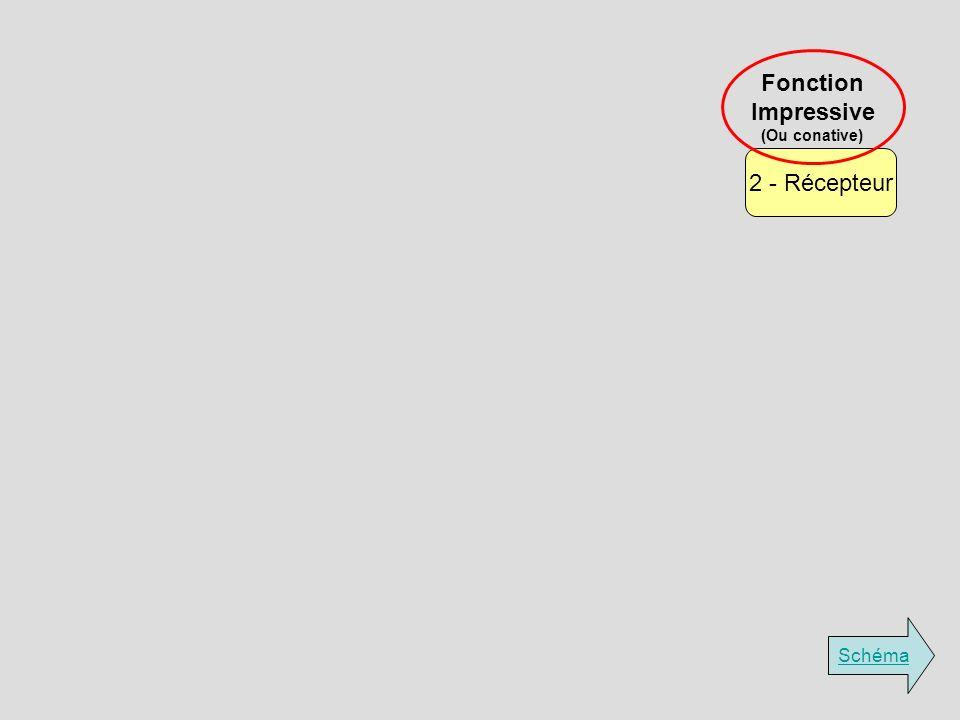 Fonction Impressive (Ou conative) 2 - Récepteur Schéma